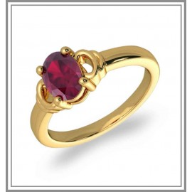 Ruby Gemstone Ring In 18K Gold